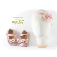 Sepatu Bayi Antislip With Headband Mandy Pink Tamagoo Babyshoes