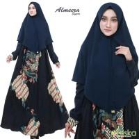 Premium Set Gamis Khimar Batik Syari Pesta Muslimah by Frishka Hijab