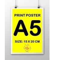 Cetak Poster Ukuran A5 Tanpa Bingkai