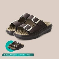 Jaco Kozuii Sandal Kesehatan & Refleksi - 2 Pasang K Walk dan BONUS
