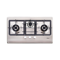 Built-in Gas Hob Kompor Gas Tanam 3 Tungku Rinnai RB-7503D (SSSM)