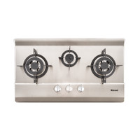 Built-in Gas Hob Kompor Gas Tanam 3 Tungku Rinnai RB-713N (S)