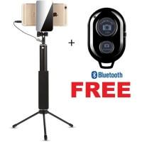 Tongsis Monopod Tripod Bluetooth Cermin Selfie Kabel HP Smartphone