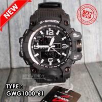 G SHOCK GWG-1000 hitam Putih Army Jam tangan pria digital dual time