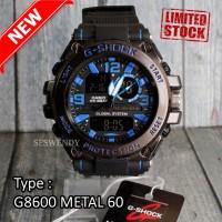 TERLARIS !!! G SHOCK Pala Besi Metal Jam tangan Pria digital dual time