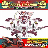 Decal Sticker YAMAHA XEON RC LORENZO SILVER UNGU