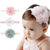 Bandana / Headband Bayi & Anak Perempuan / Bando Pita Bunga Lace