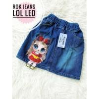 ECER Size SML Rok LED Jeans LOL Pakaian anak