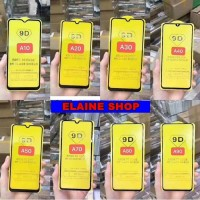 SAMSUNG A10 A20 A30 A40 A50 TEMPERED GLASS FULL LEM 9D ANTI GORES KAC