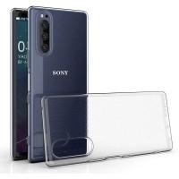 Slim TPU Case Sony Xperia 5 - Original Clear Soft Bening Cover Casing