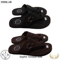 STEXEL Sandal Pria model Jepit Jempol Dijahit Tembus Sole Handmade