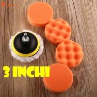 Sponge Polishing 3 inch 7 pcs /busa poles mobil motor/Polishing set