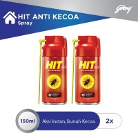 HIT Aerosol Anti Kecoa Spray Botol 150 ml - 2pcs