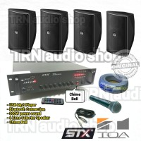 PAKET SOUND RUANG STX AMPLI & TOA F1000 4 BH Paket INSTALASI PA system