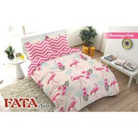 BED COVER SET FATA SINGLE SIZE 120 X 200 - FLAMINGO PINK NEW