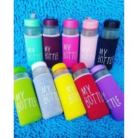 My bottle infused water - botol minum free kain pouch busa