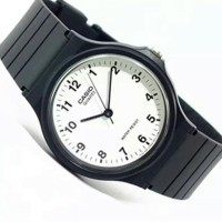 Jam tangan Casio Original Casual hitam putih karet MW 59 7BVDF