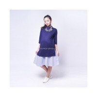 Mama Hamil Baju Hamil Dress Korea Stayle Cantik Modis - DRO 902