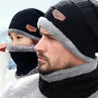 Topi Kupluk Rajut Beanie dan Syal 1 Set Winter Musim Dingin 03