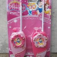 mainan walkie talkie Princess - ht pink perempuan - anak edukatif