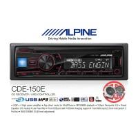 Alpine CDE-150E Single Din 2 Pre-Out RCA aksesoris mobil