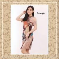 Dress Brukat Batik Sabrina Orange