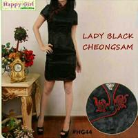 Baju Imlek Atasan Wanita Blouse Murah Dress Lady Black Terbaru
