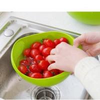 Multifunction Bowl Wadah Cuci Beras Sayur Buah Terlaris