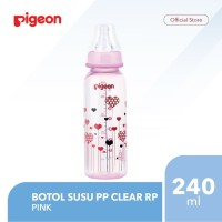Pigeon Botol Susu Pp Clear Rp 240Ml - Pink Flash Sale