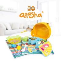 tempat bekal makan anak anasha rayyan puzzle lunch set lengkap