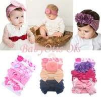 Baby Headband 3 in 1 Bandana Bando Pita Bayi Anak - Code D