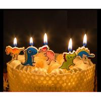 DINO lilin kue ulang tahun karakter unik lucu cute bagus birthday boy