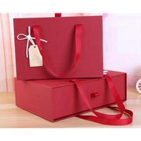 gift box merah / red / HAMPERS HADIAH NATAL IMLEK hard box