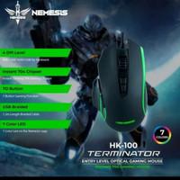 NYK HK100 Terminator Mouse Gaming + Lampu LED 7 Tombol