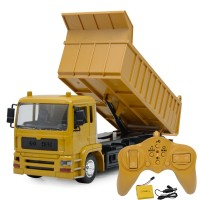 RC Cars Dump Truck Toys For Children Boys Xmas with Musical and Light