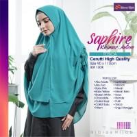 JIlBAB KHIMAR Syari Cerutti Serut Sapphire Khimar Antem Nibras Hijab