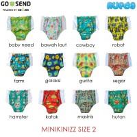 Size 2 - Minikinizz Swim Diaper Motif A Popok Renang Anak / Bayi