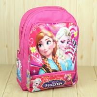 Tas Gendong Sekolah TK SD Anak Perempuan Motif Frozen Pink Lucu Keren