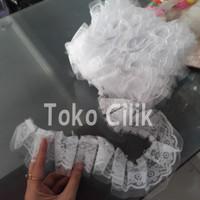 renda/kain/putih/white/tatakan/kue/tier/rok/cake/ribbon/aksesoris