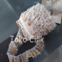 renda/kain/gold/pinggir/tatakan/kue/tier/rok/cake/ribbon/aksesoris