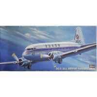pesawat DC-3 All Nippon Airways 1/200 model kit hasegawa