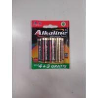 Baterai ABC Alkaline AA isi 7 = 4+3