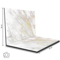 Alas Foto Lipat Marble Putih 42x30 cm / Background Foto marmer (ML-05)