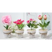 1 SET ISI 4 ANEKA Bunga plastik artificial bunga hias dekorasi A1-2