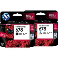 Paket Tinta Catridge Hp 678 Black Colour Original