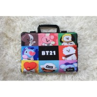 Sablon BT21 Full Print 10-17 Inch Tas Laptop Softcase K-pop Wanita - 10