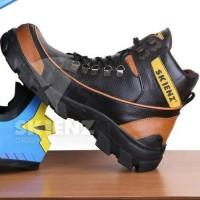 Sepatu tracking pria premium import grade original Caterpillar safety - Cokelat, 39