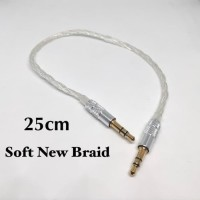 Soft New Braid 25cm AUX 3.5mm to 3.5mm Audio Cable M2M DAP DAC AMP