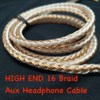 Aux Headphone Cable 16 Braid 3.5mm 2.5mm 4.4mm Balanced Jack M2M