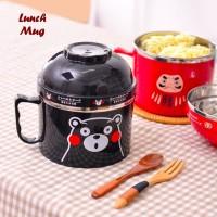 Lunch Mug Tempat bekal berbentuk mug besar bahan stainless